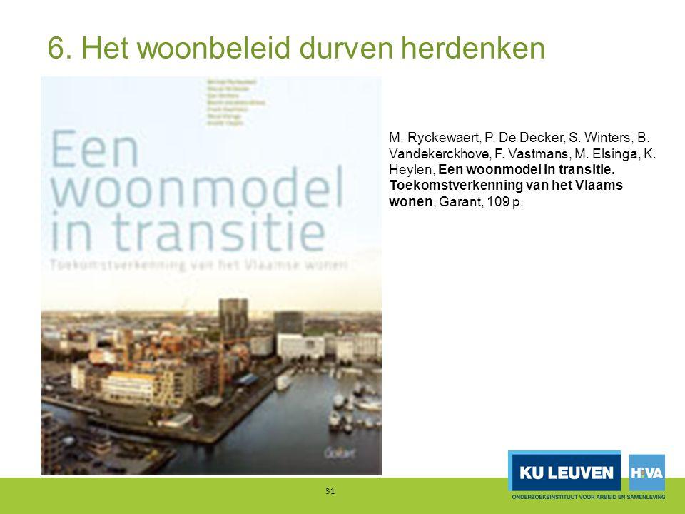 6. Het woonbeleid durven herdenken 31 M. Ryckewaert, P.
