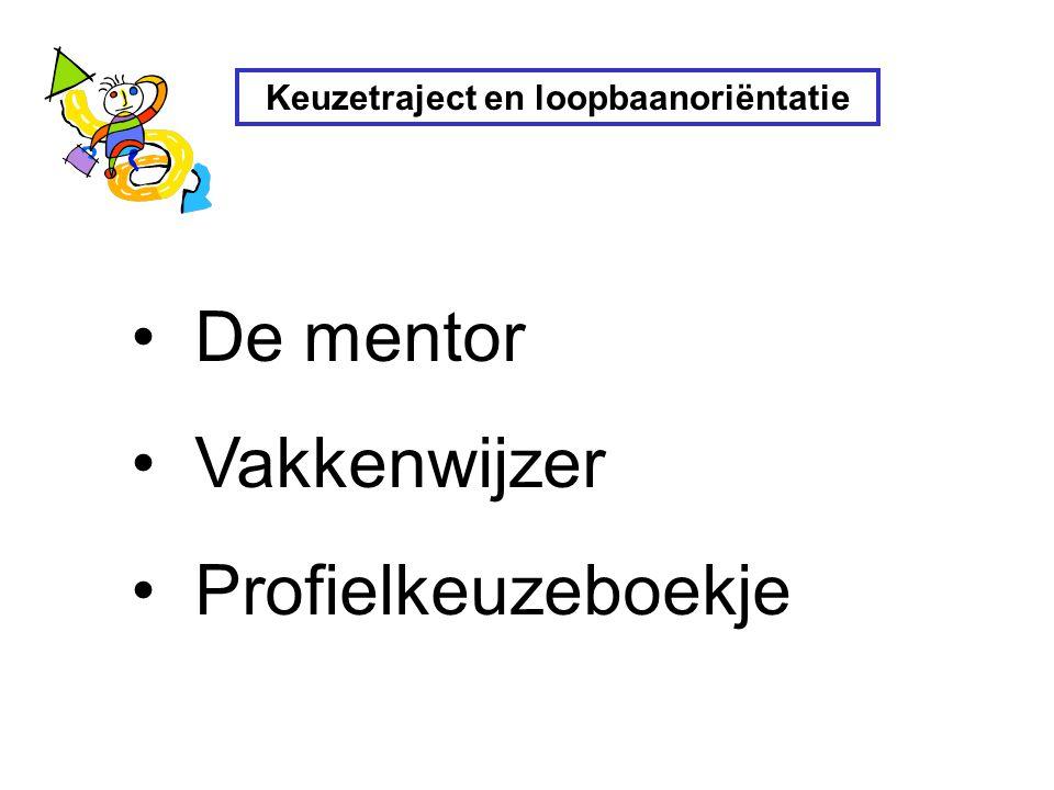 Keuzetraject en loopbaanoriëntatie De mentor Vakkenwijzer Profielkeuzeboekje