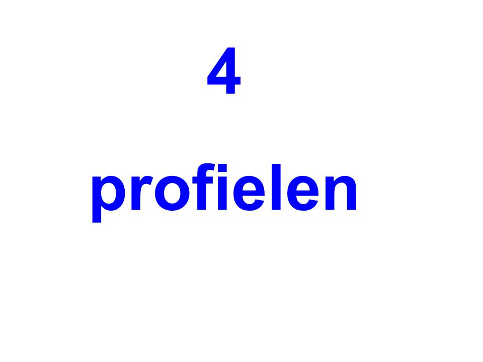 4 profielen