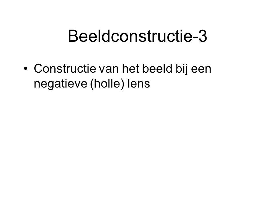 Beeldconstructie-3 Constructie van het beeld bij een negatieve (holle) lens