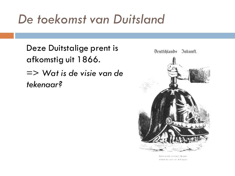 De toekomst van Duitsland Deze Duitstalige prent is afkomstig uit 1866.