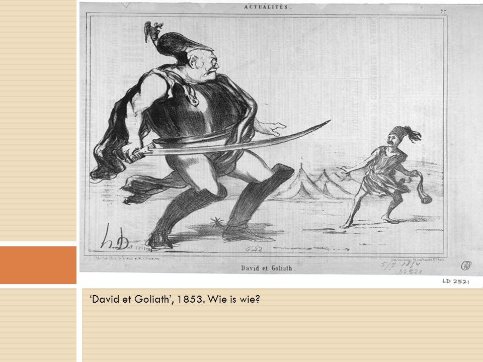 'David et Goliath', 1853. Wie is wie?