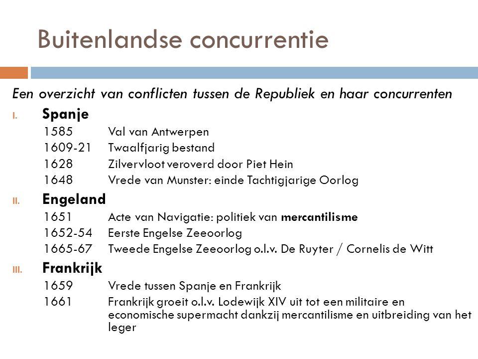 Buitenlandse concurrentie Een overzicht van conflicten tussen de Republiek en haar concurrenten I.