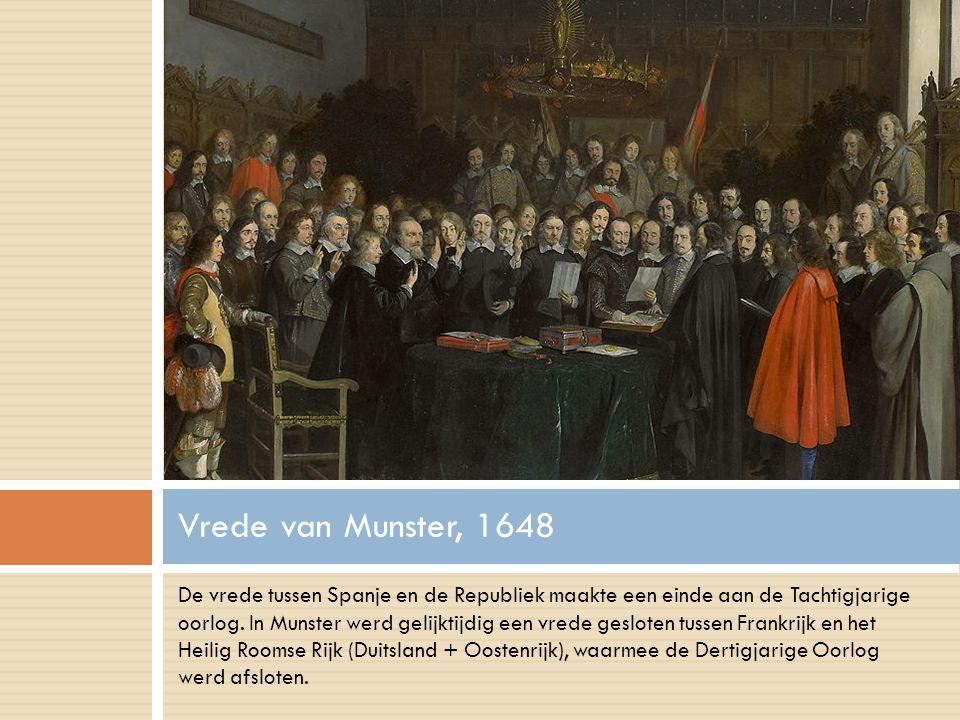 De vrede tussen Spanje en de Republiek maakte een einde aan de Tachtigjarige oorlog.