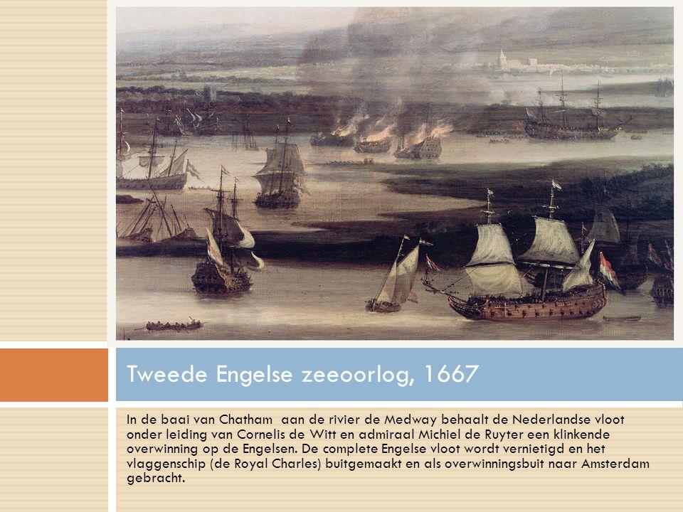 In de baai van Chatham aan de rivier de Medway behaalt de Nederlandse vloot onder leiding van Cornelis de Witt en admiraal Michiel de Ruyter een klinkende overwinning op de Engelsen.