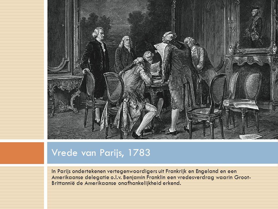 In Parijs ondertekenen vertegenwoordigers uit Frankrijk en Engeland en een Amerikaanse delegatie o.l.v.