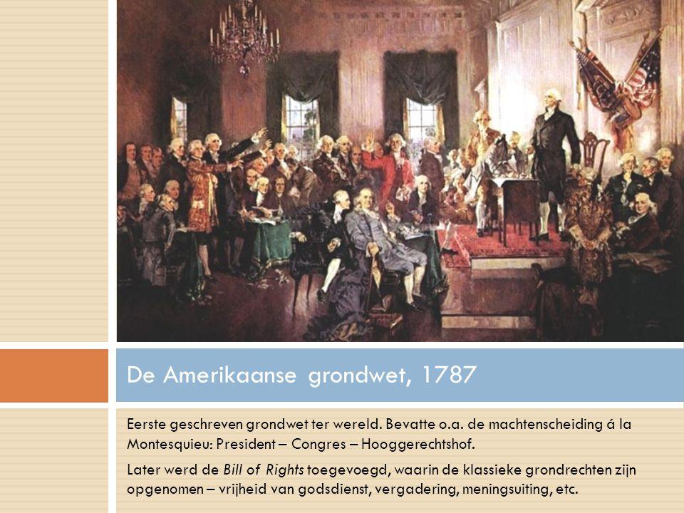 Eerste geschreven grondwet ter wereld.Bevatte o.a.