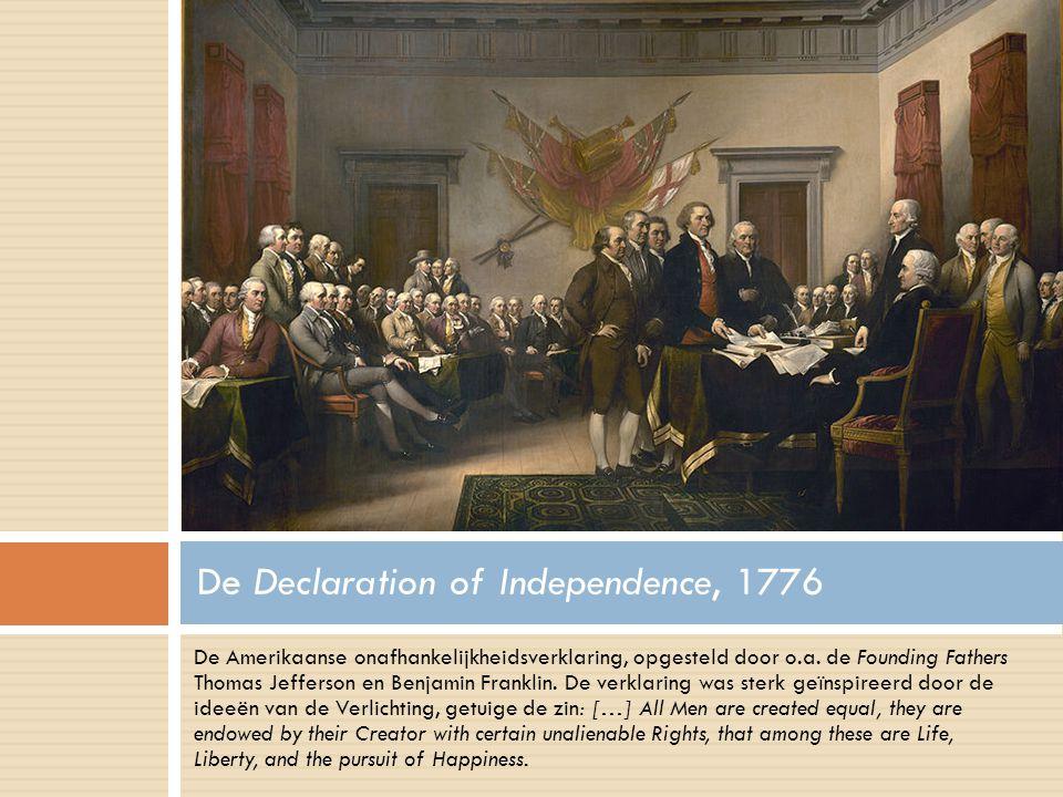 De Amerikaanse onafhankelijkheidsverklaring, opgesteld door o.a.