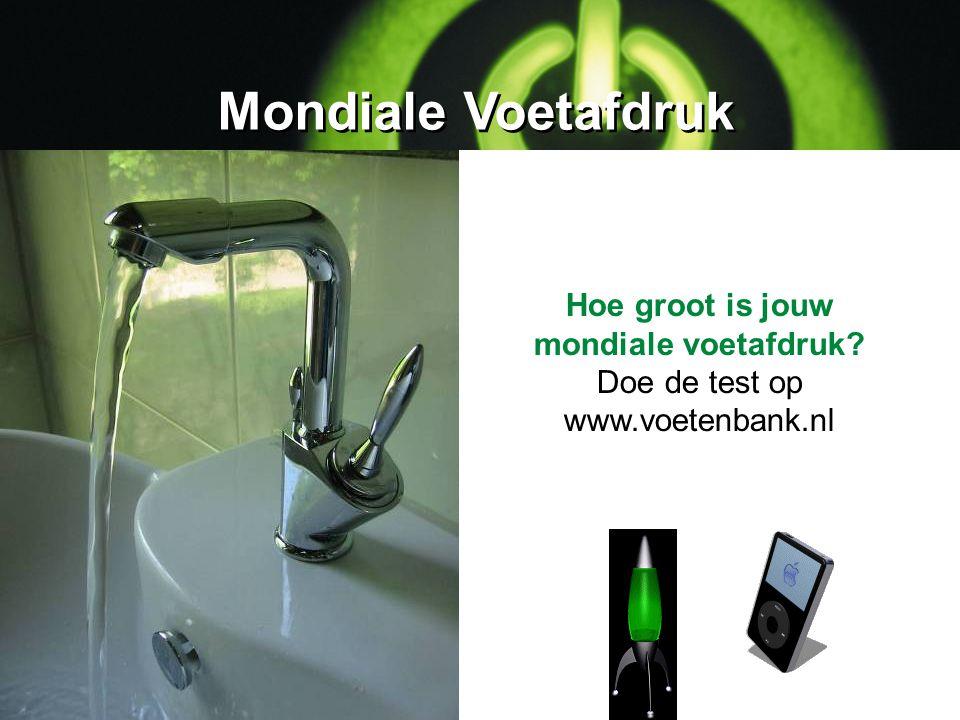 Mondiale Voetafdruk Hoe groot is jouw mondiale voetafdruk? Doe de test op www.voetenbank.nl