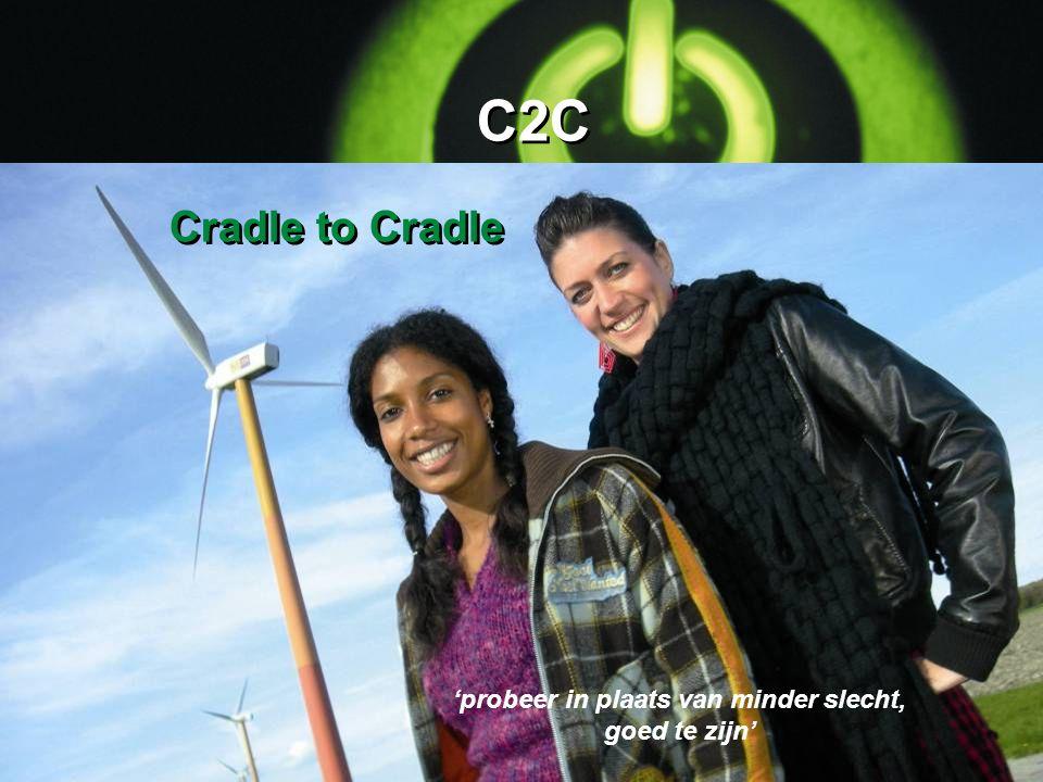 C2C 'probeer in plaats van minder slecht, goed te zijn' Cradle to Cradle