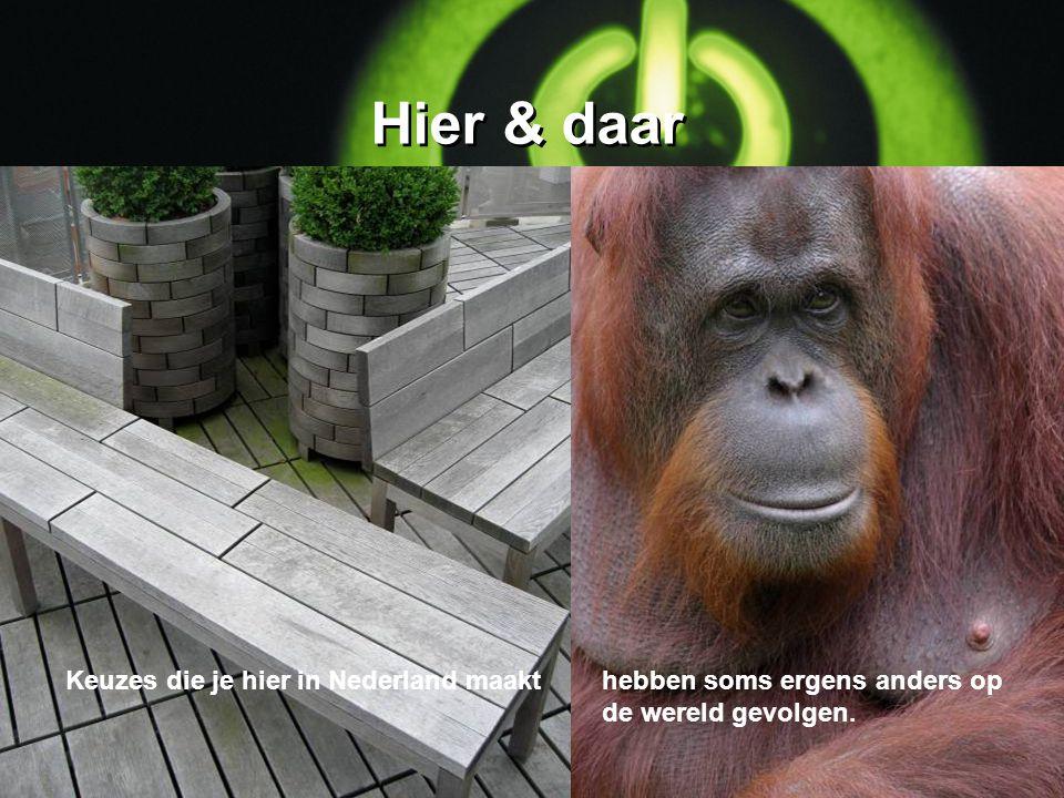 Hier & daar Keuzes die je hier in Nederland maakthebben soms ergens anders op de wereld gevolgen.