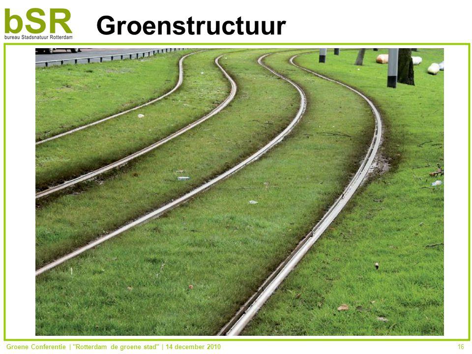 Groene Conferentie | Rotterdam de groene stad | 14 december 201016 Groenstructuur