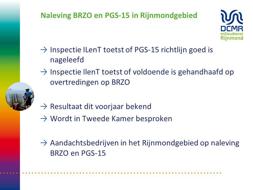 Naleving BRZO en PGS-15 in Rijnmondgebied Inspectie ILenT toetst of PGS-15 richtlijn goed is nageleefd Inspectie IlenT toetst of voldoende is gehandha