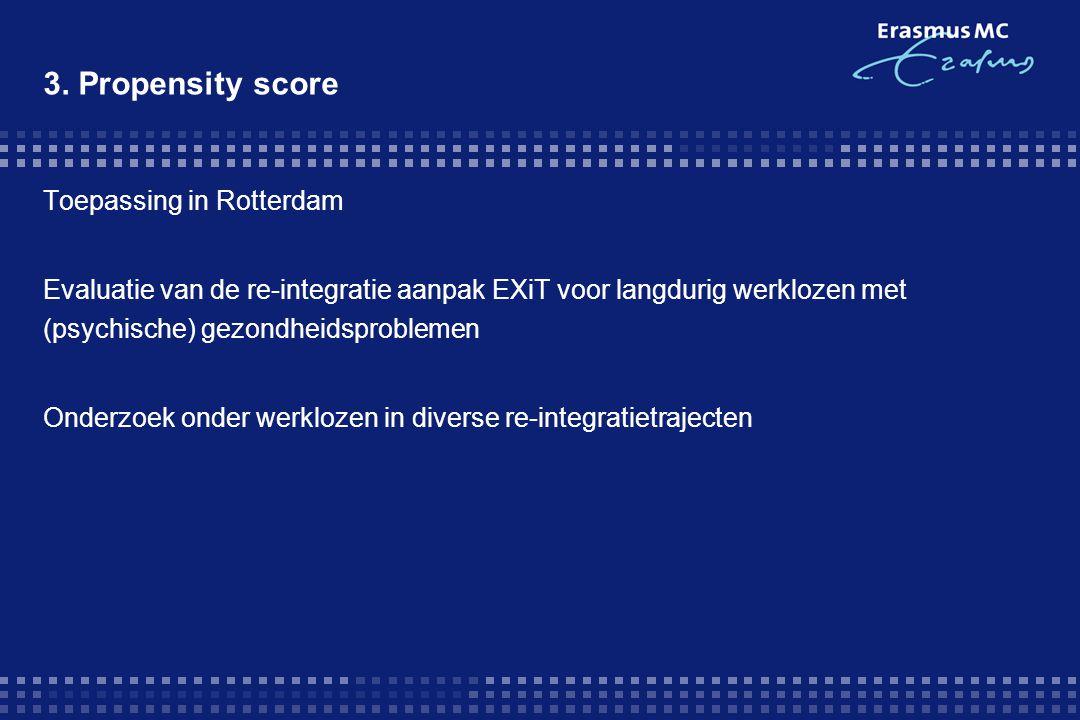 Toepassing in Rotterdam Evaluatie van de re-integratie aanpak EXiT voor langdurig werklozen met (psychische) gezondheidsproblemen Onderzoek onder werk