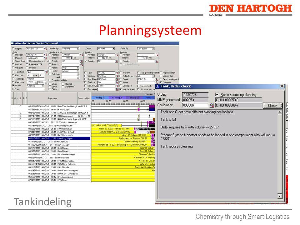 Chemistry through Smart Logistics Planningsysteem Tankindeling