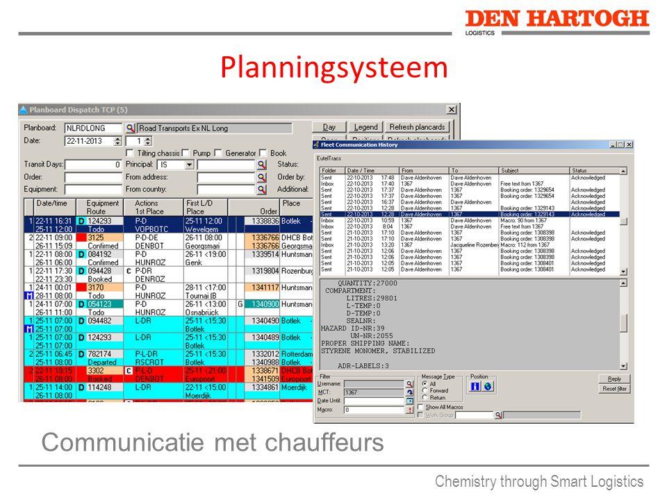 Chemistry through Smart Logistics Planningsysteem Communicatie met chauffeurs