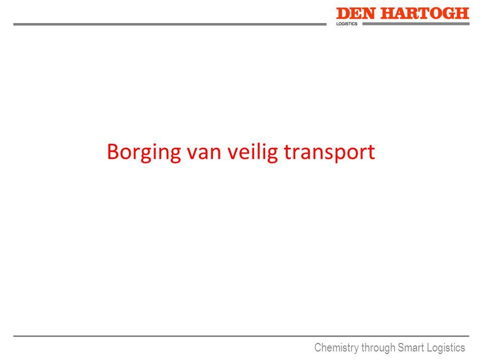 Chemistry through Smart Logistics Borging van veilig transport