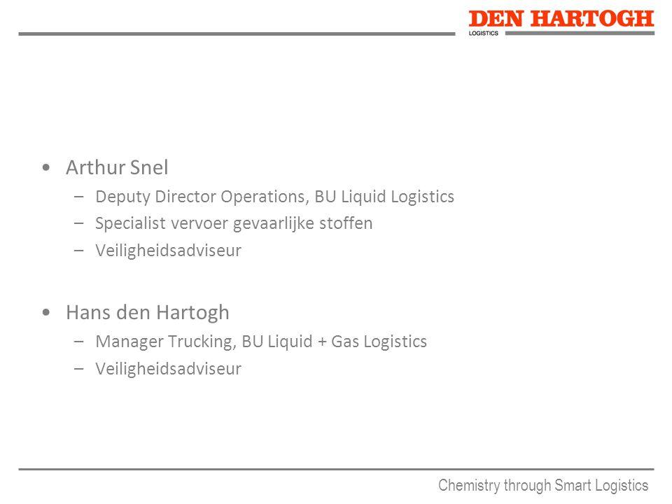 Arthur Snel –Deputy Director Operations, BU Liquid Logistics –Specialist vervoer gevaarlijke stoffen –Veiligheidsadviseur Hans den Hartogh –Manager Tr