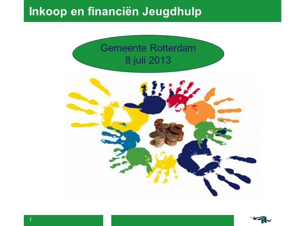 1 Inkoop en financiën Jeugdhulp Gemeente Rotterdam 8 juli 2013
