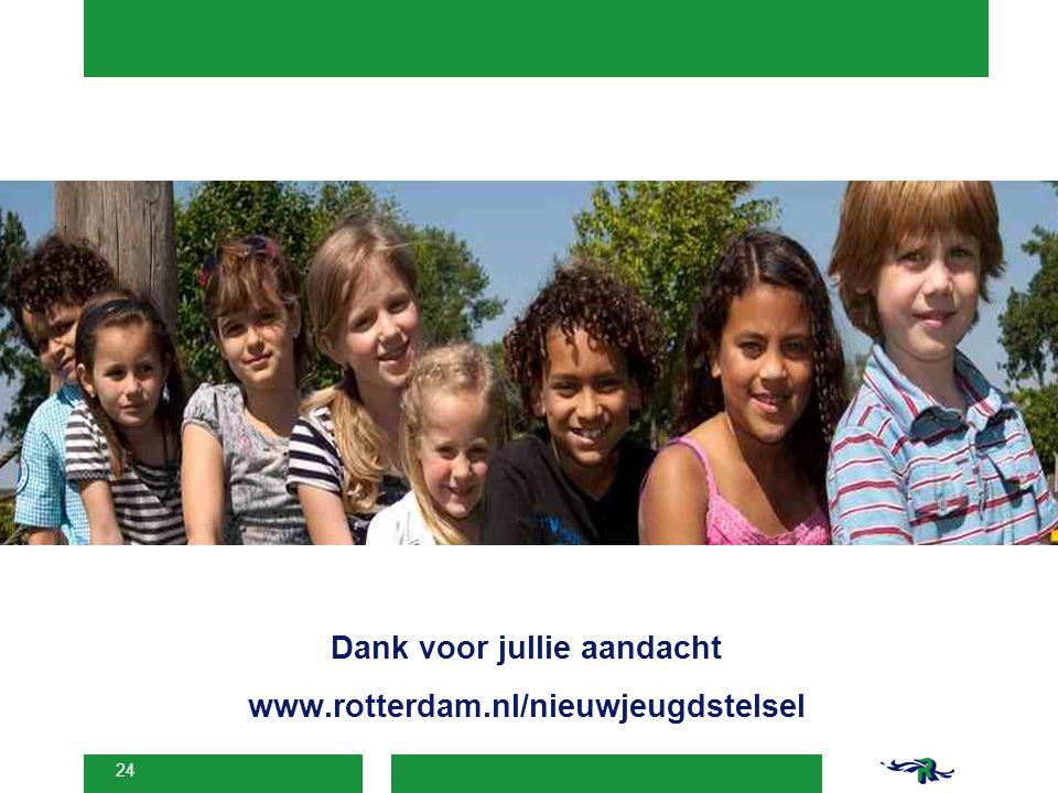 24 Dank voor jullie aandacht www.rotterdam.nl/nieuwjeugdstelsel