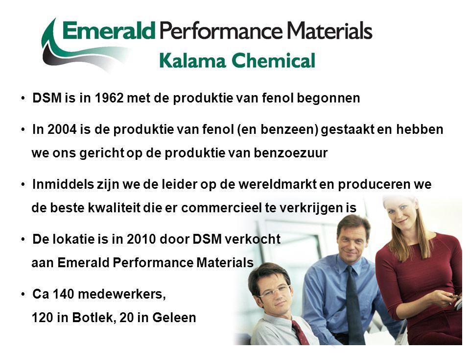 DSM is in 1962 met de produktie van fenol begonnen In 2004 is de produktie van fenol (en benzeen) gestaakt en hebben we ons gericht op de produktie va