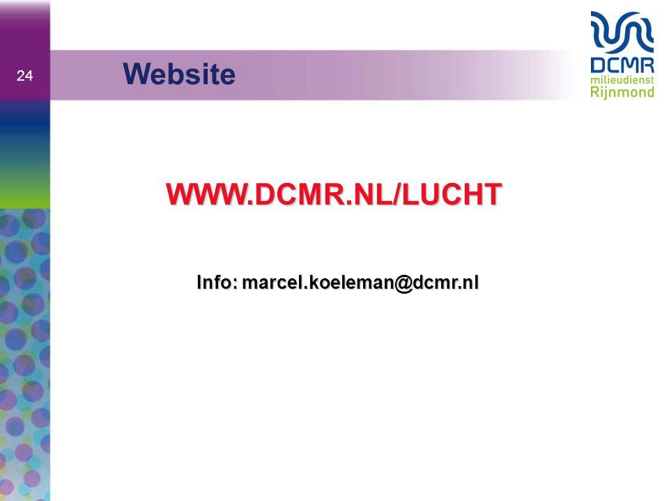 24 Website WWW.DCMR.NL/LUCHT Info: marcel.koeleman@dcmr.nl