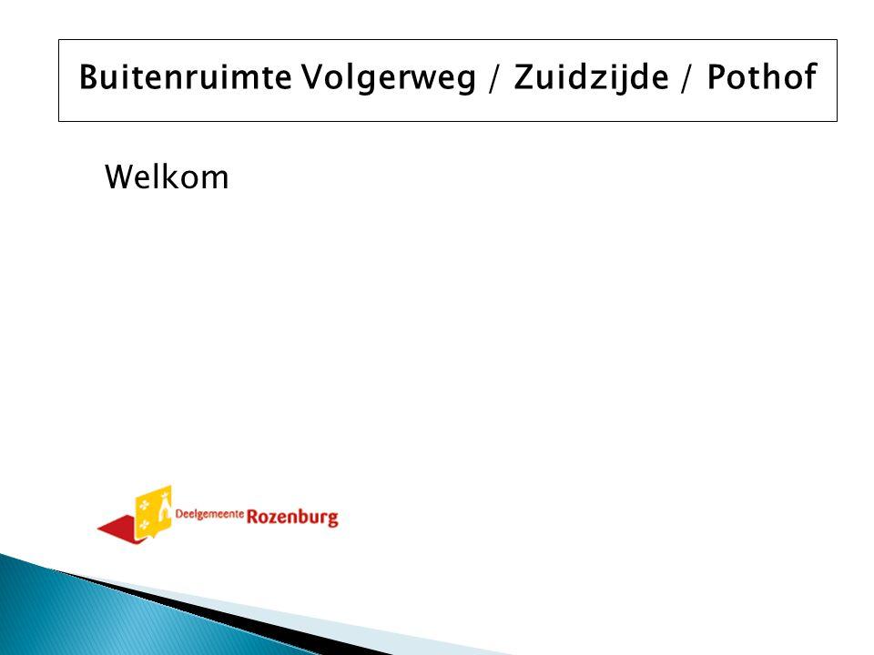 Welkom Buitenruimte Volgerweg / Zuidzijde / Pothof