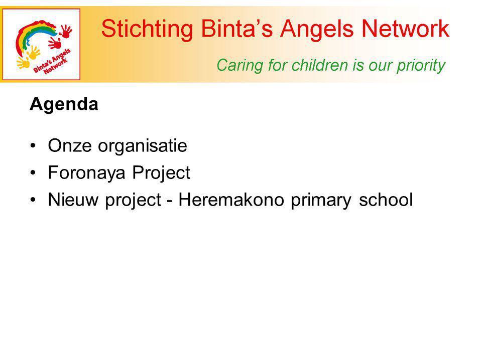 Agenda Onze organisatie Foronaya Project Nieuw project - Heremakono primary school