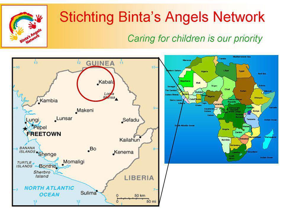 Binta's Angels Network 20.12.2006 Oprichter/Voorzitter: Binta Jalloh Secretaris: Wilma Stolk Penningmeester: Daniela Cizkova Financieel admin.: Ko Out Webmaster:Harry van Dijk