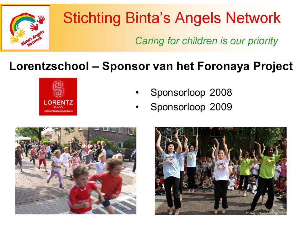 Sponsorloop 2008 Sponsorloop 2009 Lorentzschool – Sponsor van het Foronaya Project