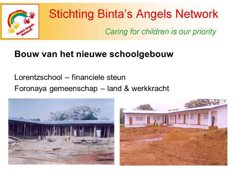 Bouw van het nieuwe schoolgebouw Lorentzschool – financiele steun Foronaya gemeenschap – land & werkkracht