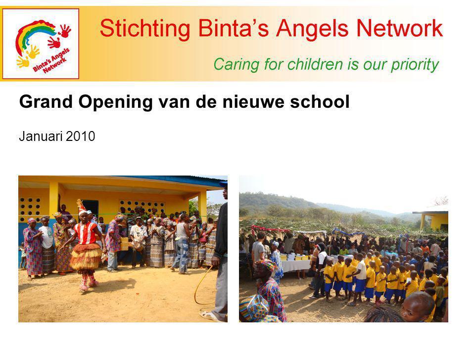 Grand Opening van de nieuwe school Januari 2010