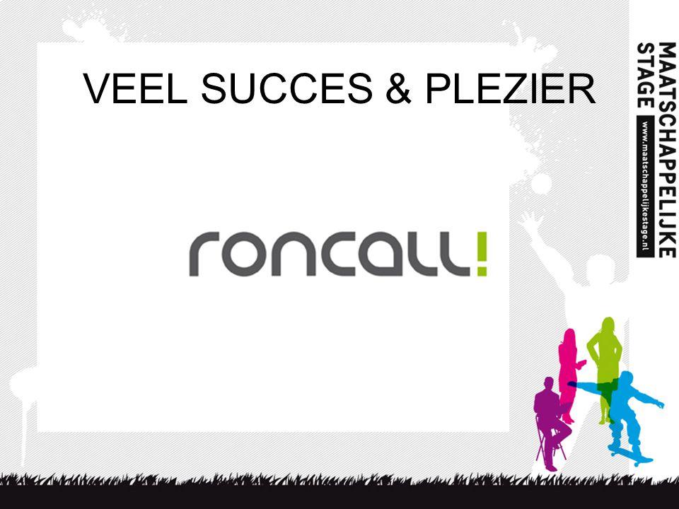 VEEL SUCCES & PLEZIER