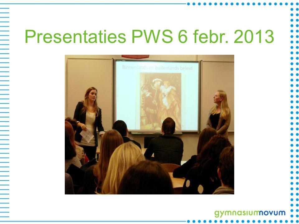 Presentaties PWS 6 febr. 2013