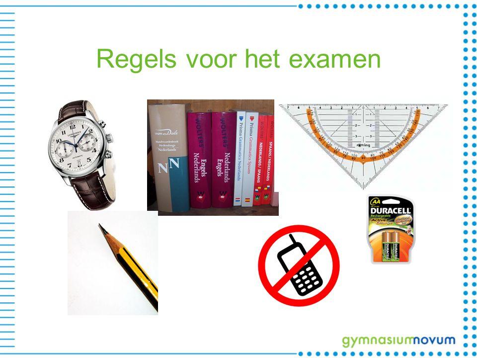 Regels voor het examen