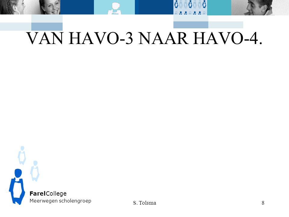 VAN HAVO-3 NAAR HAVO-4. S. Tolsma FarelCollege Meerwegen scholengroep 8