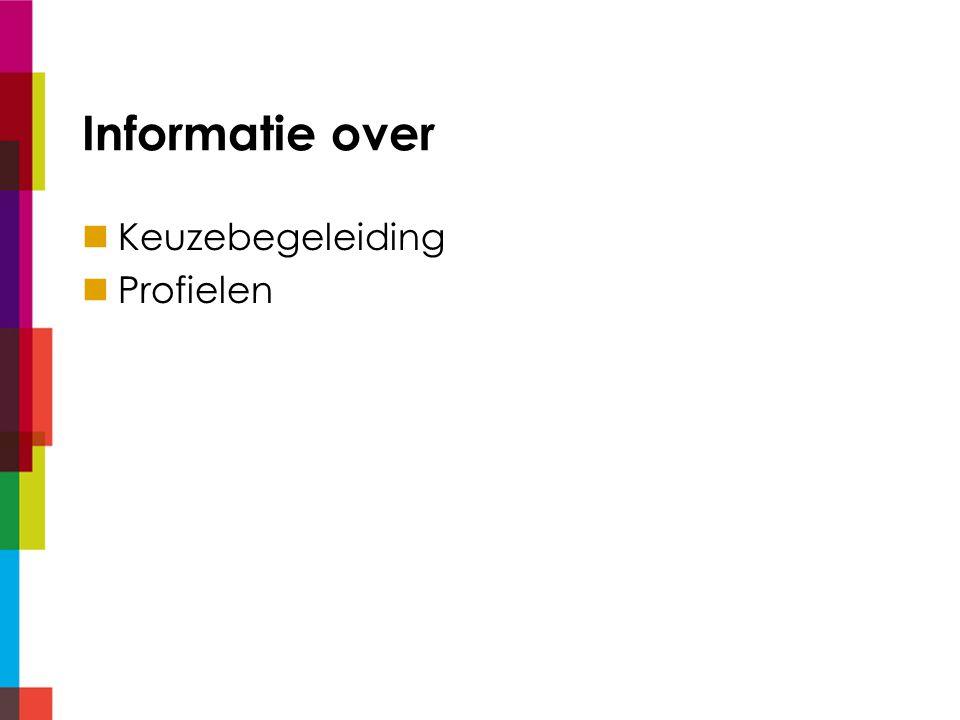 Keuzebegeleiding Sept-dec: Keuzelessen m.b.v.dedecaan.net Dec: Profielkeuzeproject incl.