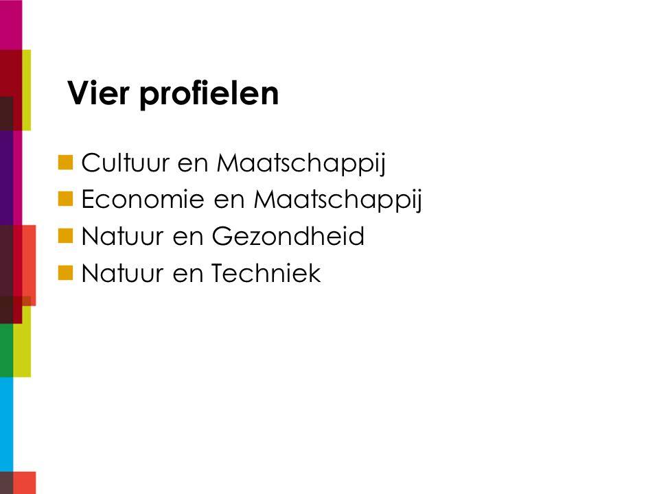 1.Cultuur en Maatschappij Profieldeel wisk C of A gesProfielkeuzevak 1 uit: ak/ec 1 uit: tek/du/fa/gr/la/fil Keuze examenvak 1 uit: du/fa/gr/la/eco/fil/tek/m&o* * Alleen in combinatie met wisk A
