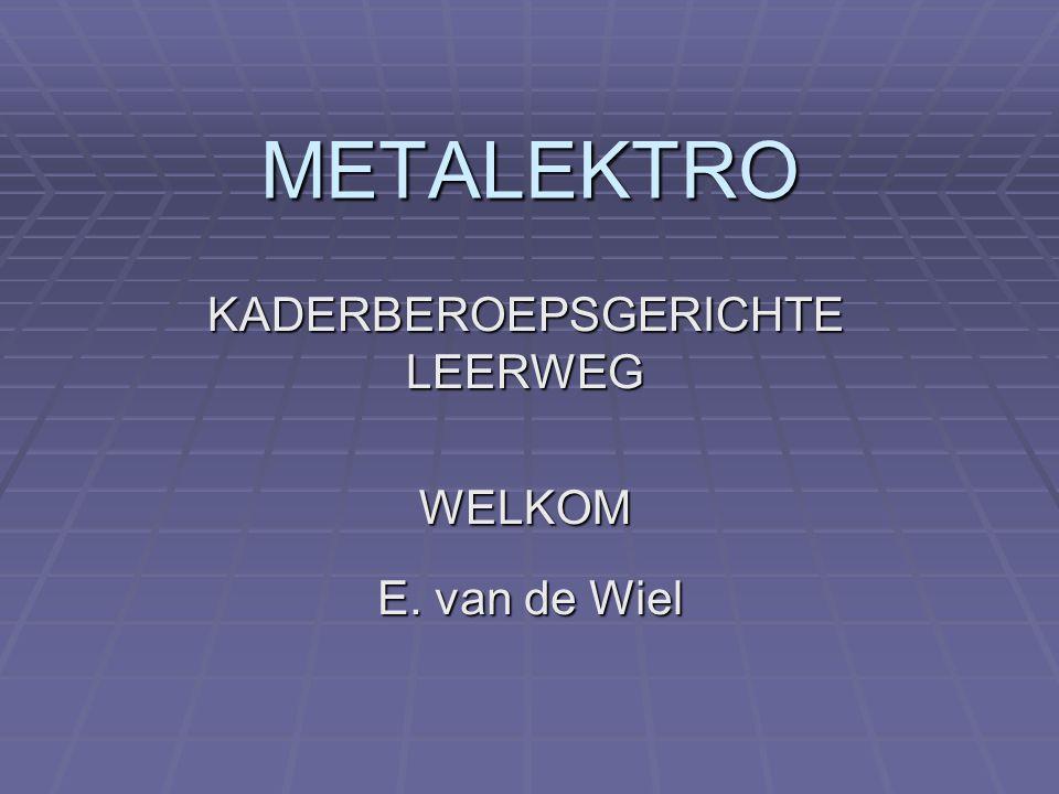 METALEKTRO KADERBEROEPSGERICHTE LEERWEG WELKOM E. van de Wiel
