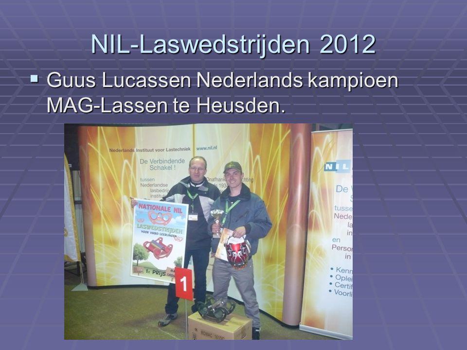 NIL-Laswedstrijden 2012  Guus Lucassen Nederlands kampioen MAG-Lassen te Heusden.