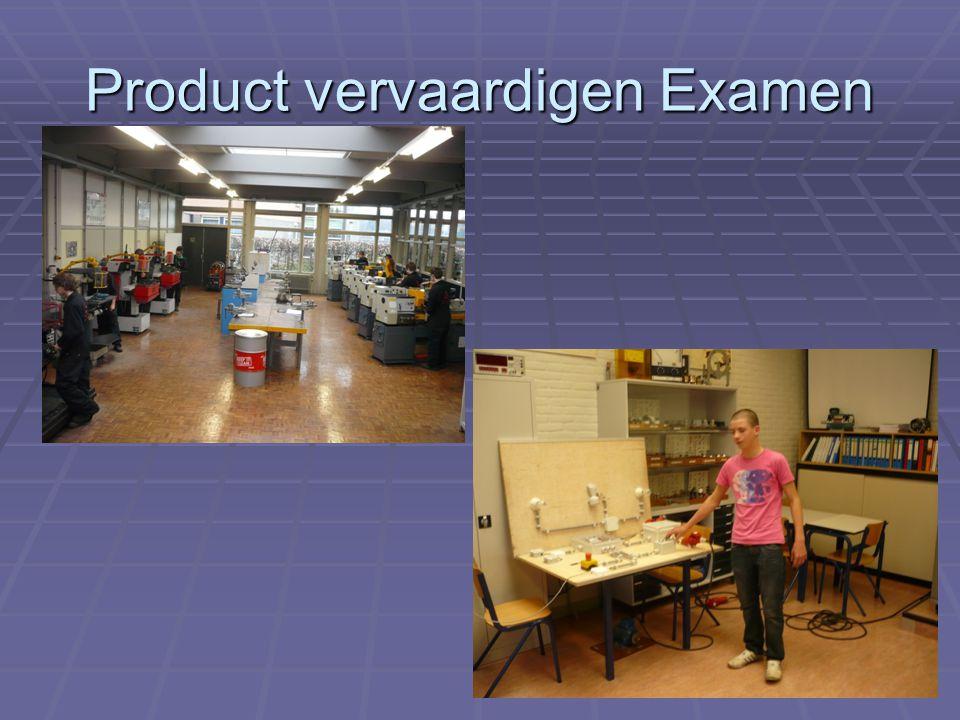Product vervaardigen Examen