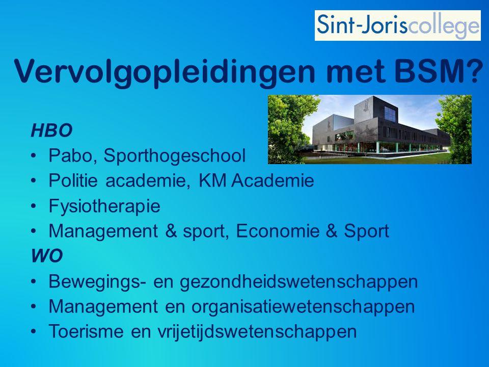 HBO Pabo, Sporthogeschool Politie academie, KM Academie Fysiotherapie Management & sport, Economie & Sport WO Bewegings- en gezondheidswetenschappen M