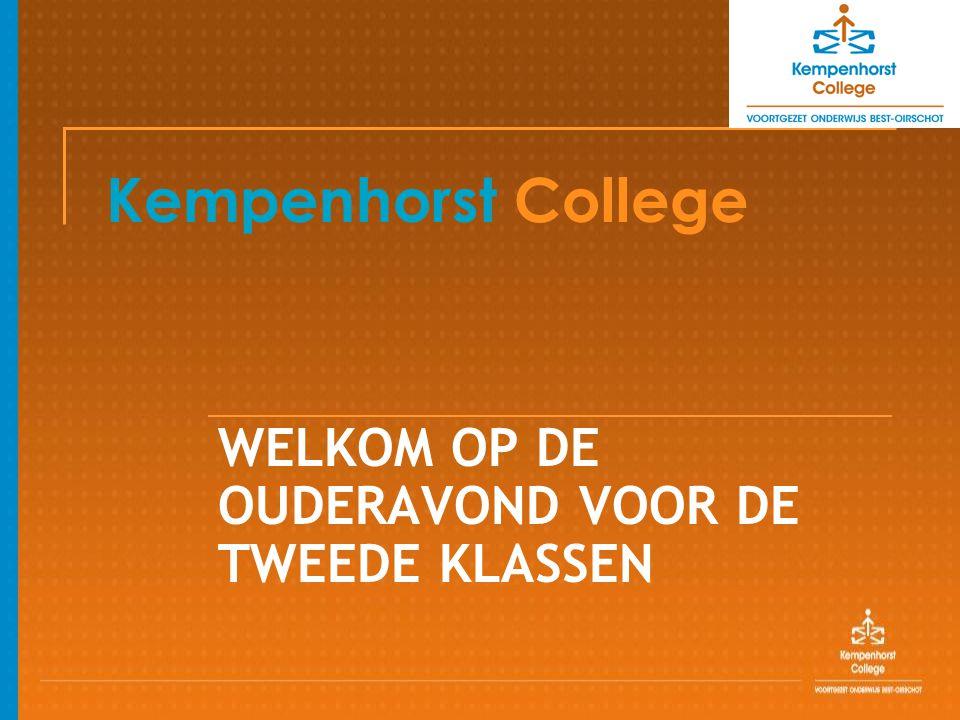 Kempenhorst College WELKOM OP DE OUDERAVOND VOOR DE TWEEDE KLASSEN