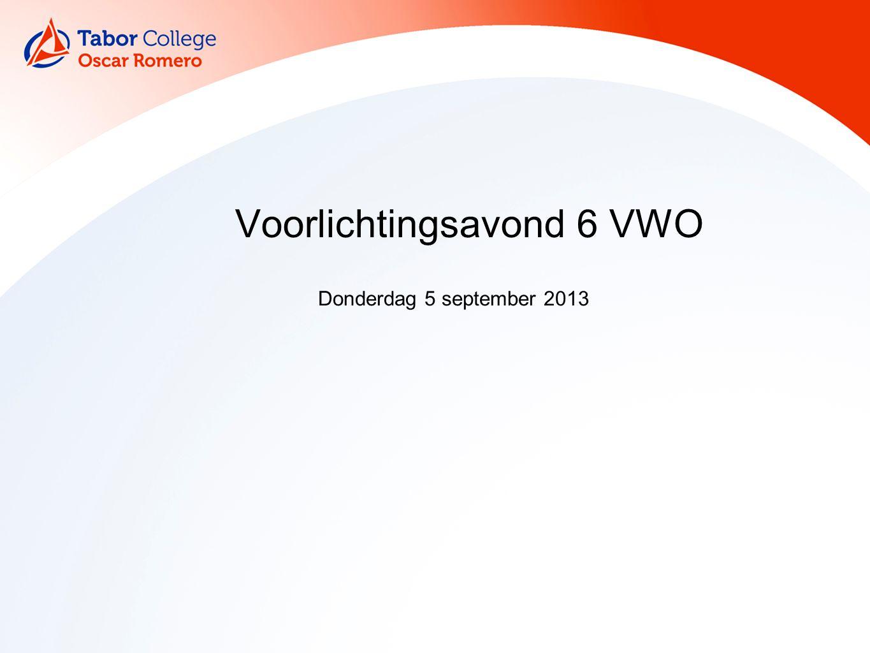 Voorstellen Mentoren Mevrouw Van der Meulen (V6B) Mevrouw Van den Reek (V6C) Mevrouw Veldhuis (vanavond afwezig) En verder … Dhr.