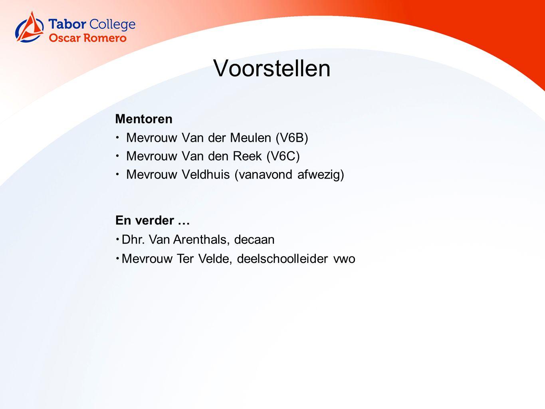 Examen(jaar) Slaag-zaknorm Examenzaken Loopbaanoriëntatie Aanmelding Studiefinanciering Kennismaking met de mentor Programma