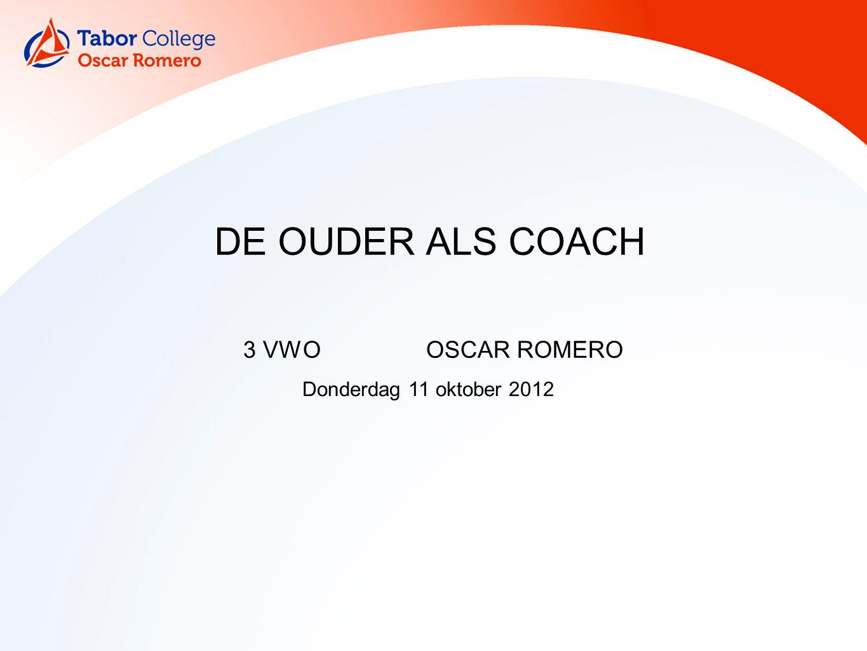 DE OUDER ALS COACH 3 VWOOSCAR ROMERO Donderdag 11 oktober 2012