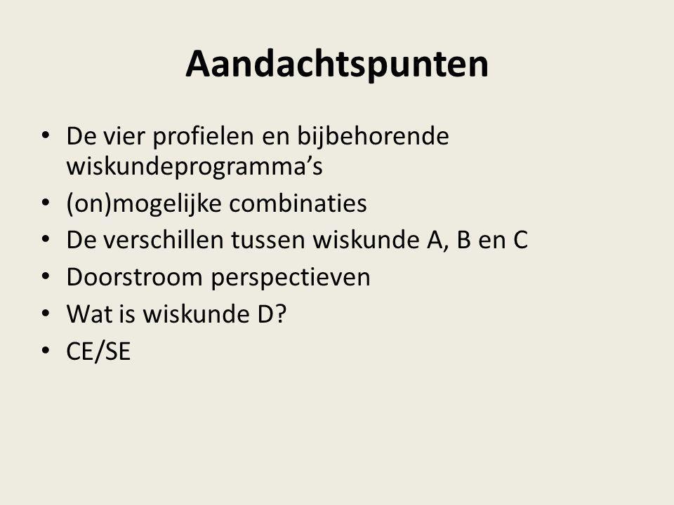 Nog vragen? Wiskunde A, B, C en D op het vwo