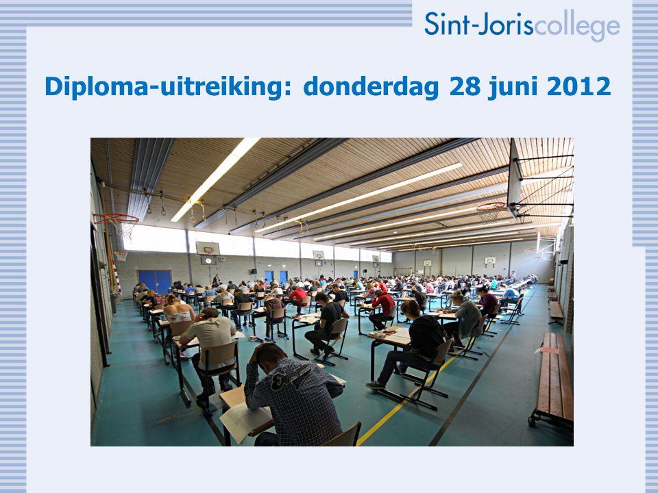 Diploma-uitreiking: donderdag 28 juni 2012