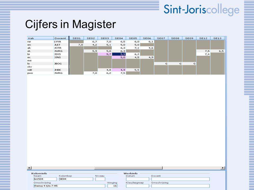 Cijfers in Magister