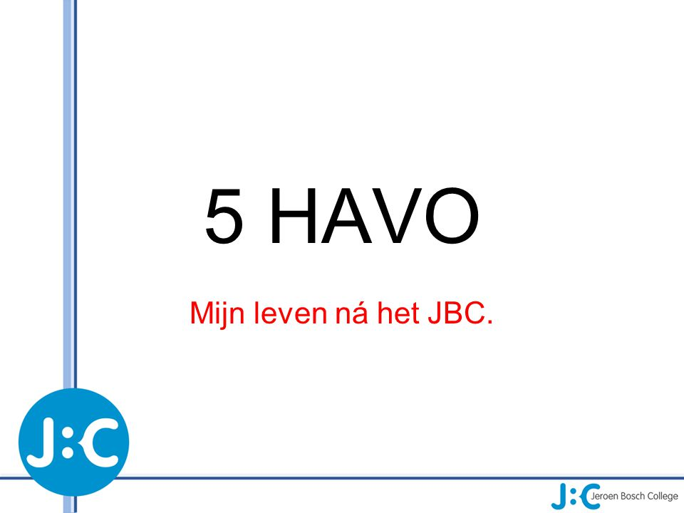 Als je niet slaagt… Terug op het JBC Elders(VAVO)
